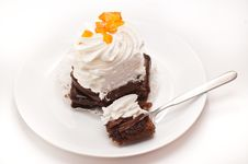 Free Cake On A Plate Royalty Free Stock Photos - 24749778