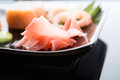 Free Sushi With Ginger, Avocado And Shrimps Royalty Free Stock Image - 24752496