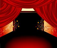 Free Red Curtains Background Stock Photo - 24750020