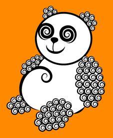 Free Panda Curl Decorative Royalty Free Stock Photography - 24750047
