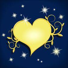 Free Golden Heart Stock Image - 24752161