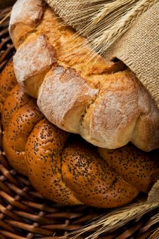 Free Fresh Tasty Bread &x28;kalatches&x29; Close Up Stock Photography - 24752362