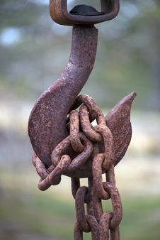 Rusty Hook Royalty Free Stock Images