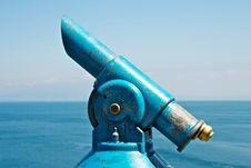 Free Blue Old Telescope Stock Photos - 24756653
