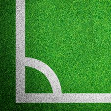 Corner Of A Soccer Field Stock Photography
