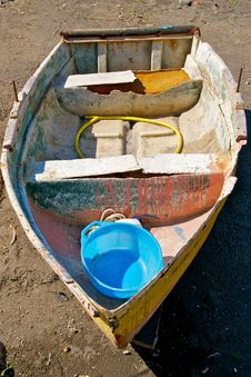 Free Old Abandoned Boat Stock Photography - 24757602