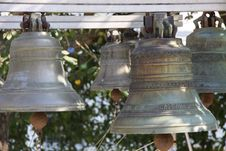 Free Belfry With Antique Bells Royalty Free Stock Photography - 24758617