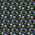 Free Violet Abstract Flowers Pattern Royalty Free Stock Photo - 24761485