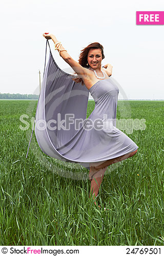 Free Woman In The Field Stock Image - 24769501