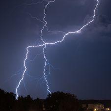 Lightning Over Castle Stock Photos