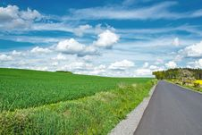 Free Beautiful Summer Rural Landscape With Road Royalty Free Stock Photos - 24765208