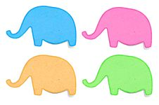 Free Elephant Recycled Paper Craft Stick Stock Image - 24765991