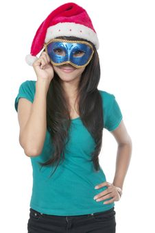 Christmas Mask Royalty Free Stock Photos