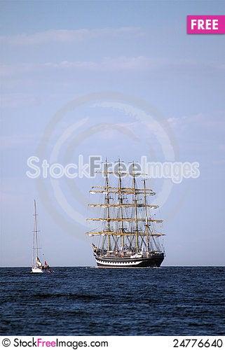 Free Sailing Ships &x28;worldwide Parade In Rostock&x29; Stock Photo - 24776640