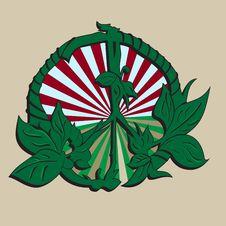 Peace Symbol Green Leaves Classic Stock Photo