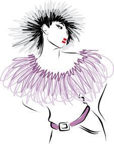 Free Fashion Model. Royalty Free Stock Photos - 24775658