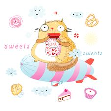 Free Cat Is A Sweet Tooth Stock Images - 24775844