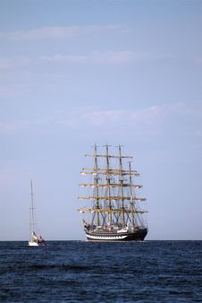 Free Sailing Ships &x28;worldwide Parade In Rostock&x29; Stock Photo - 24776640