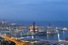Free Port Of Barcelona Royalty Free Stock Photography - 24777127