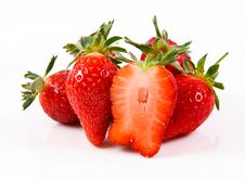 Strawberries Isolated Stock Photos
