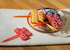 Free Birthday Party Toothpicks Royalty Free Stock Image - 24778396