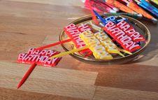 Free Birthday Party Toothpicks Royalty Free Stock Photos - 24778428