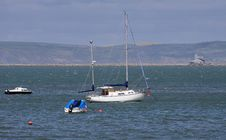 Free Boats Anchored Off The Dorset Coast Stock Photos - 24778493