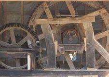 Old Watermill Mechanism - Cogwheels Royalty Free Stock Image