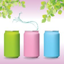 Free Color Fresh Can Water Splash In Green Nature Pink Stock Images - 24779744