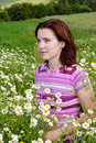 Free Woman In Chamomile Stock Image - 24786281