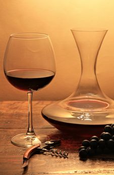 Free Wine Glass And Decanter Stock Photography - 24785862