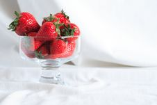 Strawberry In Vase Royalty Free Stock Photo