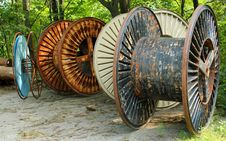 Cable Reels Stock Image