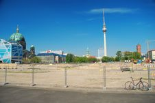 Berlin, Germany. Rebuilding The City Royalty Free Stock Photos