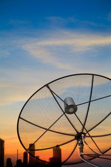 Free Black Antenna Satellite Dish Royalty Free Stock Image - 24788456