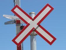 Free Close-up Of A Railroad Warning Sign. Royalty Free Stock Photo - 24789735