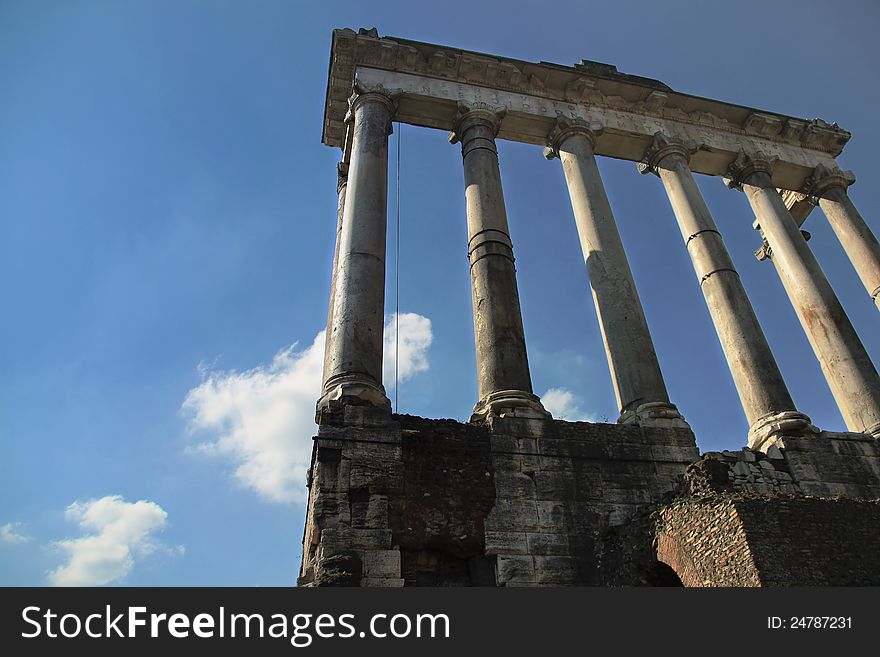 Ruins of the ancient Forum in Rome