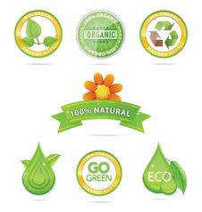 Free Green Nature Emblems And Sign Set Royalty Free Stock Images - 24793089