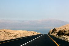 Free Road To Dead Sea Royalty Free Stock Photos - 24793588