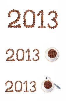 Free Numbers From The Corns Of Coffee 2013 Stock Photo - 24793870