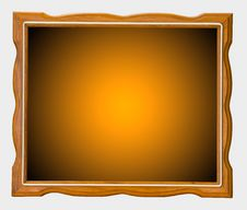 Free Orange Wood Picture Frame Stock Photos - 24793923