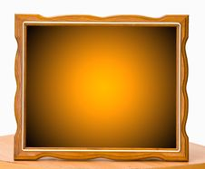 Free Orange Wood Picture Frame Stock Images - 24793944