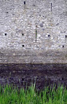 Trim Castle Wall And Moat. Royalty Free Stock Photos