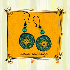 Free Illustrated Earrings Stock Photo - 24796480