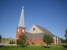 New Holy Rosary Church, Pine Ridge, South Dakota Stock Photos