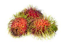 Free Rambutan On White Stock Image - 24798301