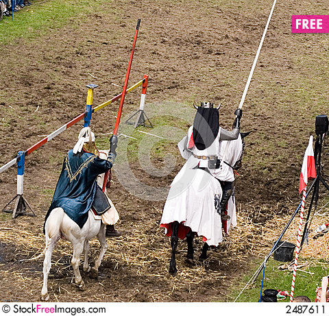 Free During The Battle Of Knights Stock Image - 2487611