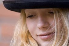 Free Portrait Of The Girl In A Hat Royalty Free Stock Photography - 2480237