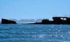 Sunken Ship Stock Images