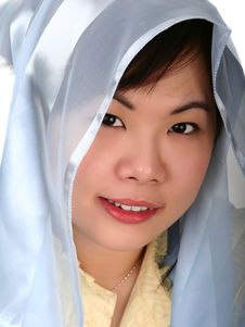 Free Pretty Asian Girl With Hood Stock Photography - 2483102